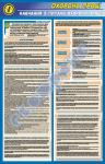 """Стенд (плакат) """"Навчання та інструктажі з охорони праці"""" (код 01.003)"""