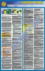 """Стенд (плакат) """"Порядок розлідування та ведення обліку нещасних випадків, професіних захворювань"""" (код 01.005)"""