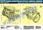 """Плакат """"Загальний вигляд двигуна DEUTZ"""" (код 0111-02 LAZ)"""