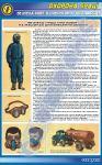 """Плакат """"Безпека праці при роботі на машинах для внесення добрив"""""""