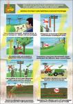 """Плакат """"Безпека при роботі біля повітряних ліній електропередач» 1140201"""
