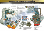 "Плакат ""Система змащення двигуна ВАЗ-2108""(код 45101В10)"