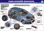 """Плакат """"Газобалонный автомобиль-компоненты газобалонной установки для работы на сжиженном газе"""" (лист 1)"""