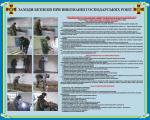 """Плакат """"Меры безопасности при выполнении хозяйственных работ"""" код 4530202"""