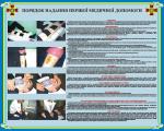"""Плакат """"Порядок оказания первой медицинской помощи"""" код 4530206"""