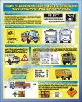 """Плакат """"Правила установки (нанесения) номерных и распознавательных знаков на транспортные средства вооруженных сил Украины"""" код  4530302"""