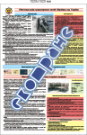 """Плакат """"Обязанности водителя транспортного средства Вооруженных сил Украины"""""""
