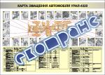 "Плакат ""Карта смазки автомобиля УРАЛ-4320"""
