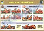 """Плакат """"Обробка м'яса у військовій їдальні"""" код 4530604"""