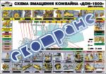 """Плакат """"Схема смазки комбайна ДОН"""""""