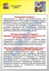 """Плакат """"Семестровий контроль. Екзамен"""" код 4930109"""