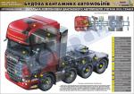 """Плакат """"Загальна компоновка вантажного автомобиля (тягача 8х4)"""" (код 4510201)"""