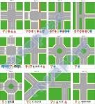 Типові перехрестя - комплект-12 листів