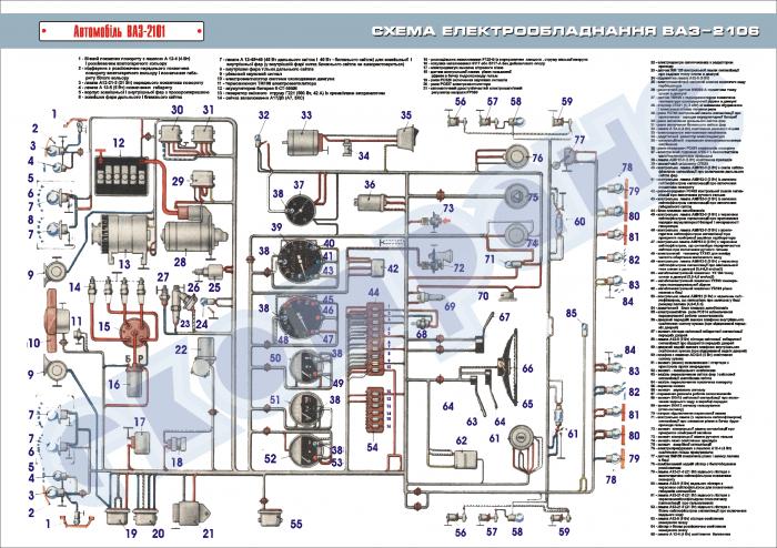 схема электропроводки камаз 5320 с описанием цветная печать