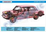 Плакат «Устройство ВАЗ-2107» (компоновка)
