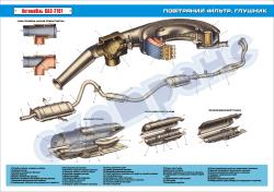 Плакат «Воздушный фильтр.Глушитель»
