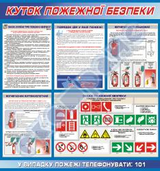 Уголок пожарной безопасности вариант №2  без кармашка