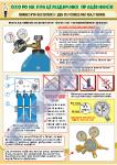 Требования безопасности к кислородным баллонам в медучреждениях-плакат 1