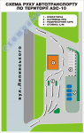 Схема руху автотранспорту по території підприємства (приклад 5)
