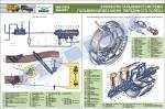 """Плакат """"Елементи гальмівної системи. Гальмівний механізм переднього колеса"""" (код UAZ.20)"""