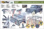 """Плакат """"Кузов автомобілів сімейства УАЗ-31512"""" (код UAZ.24)"""